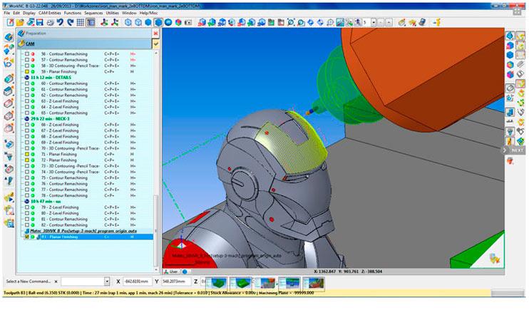 software WorkNC Ejes, ingenieria y mecanizado cad cam