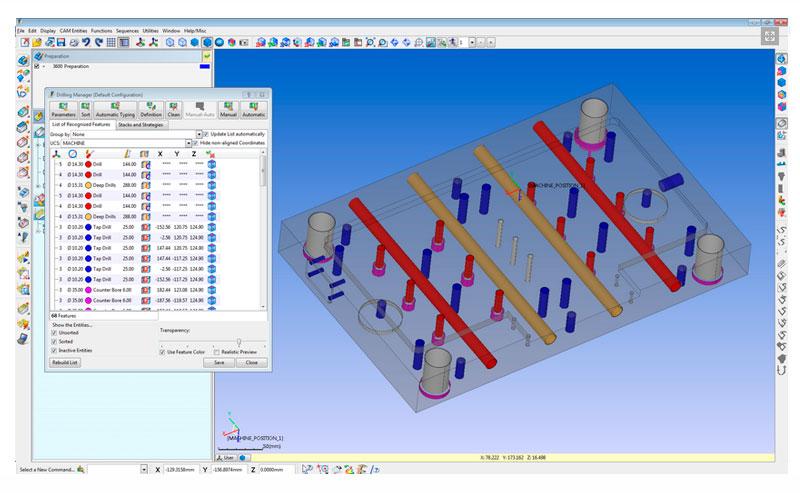 modulos principales de workNC mecanizado de moldes