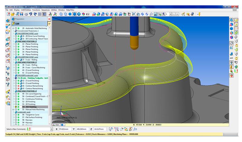 modulos principales work NC mecanizado de moldes CAD CAM